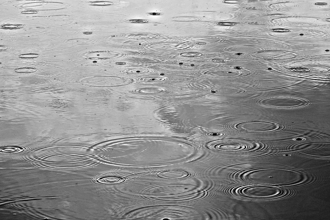 Hình ảnh giọt nước mưa rơi