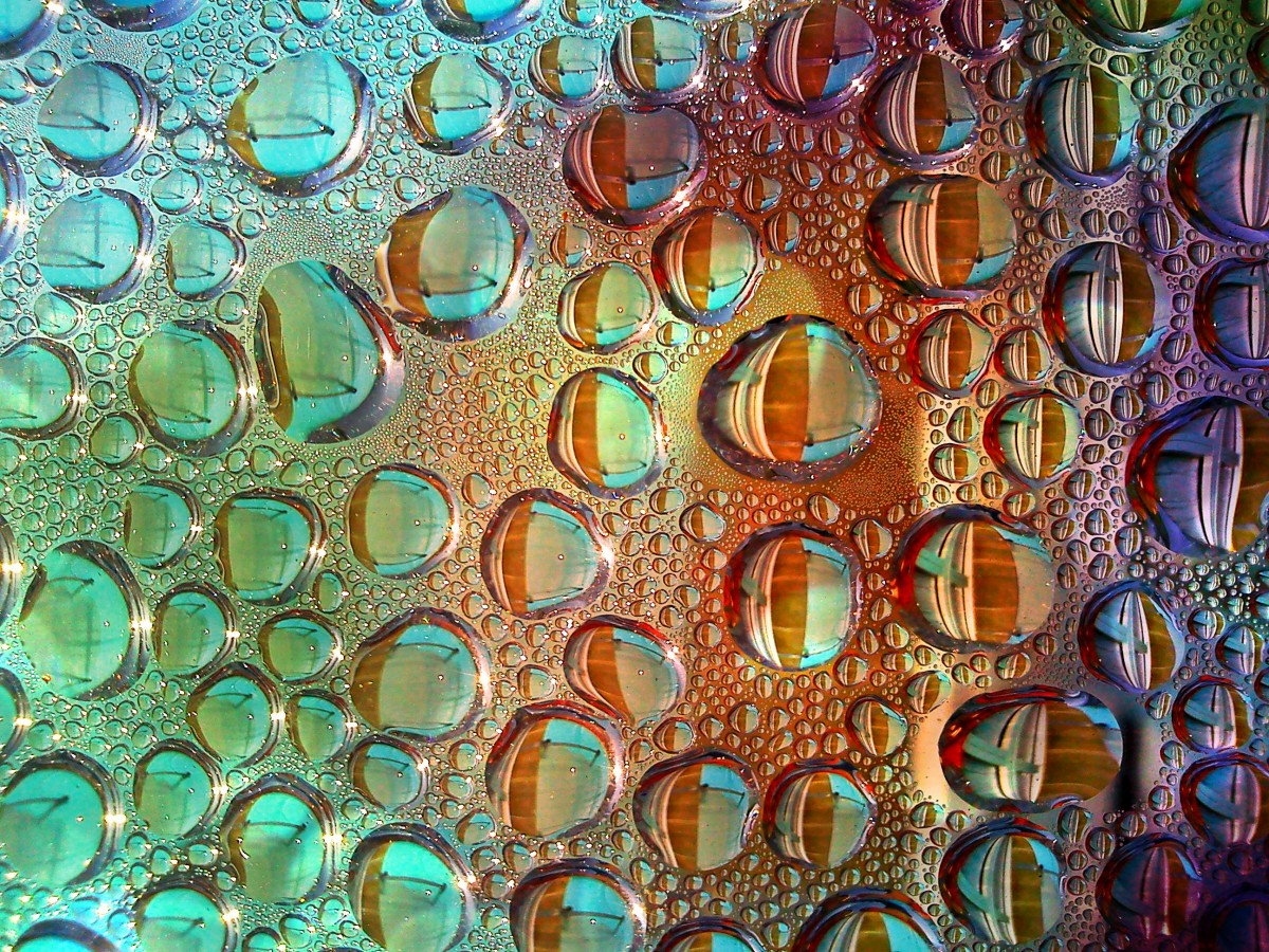 Hình ảnh giọt nước nhiều màu