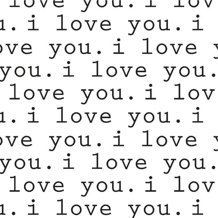 Hình ảnh lặp chữ I Love You