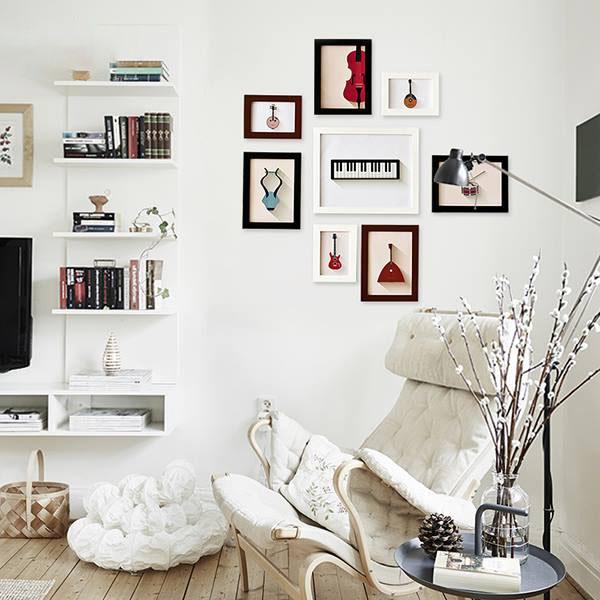 Hình ảnh trang trí phòng với khung tranh