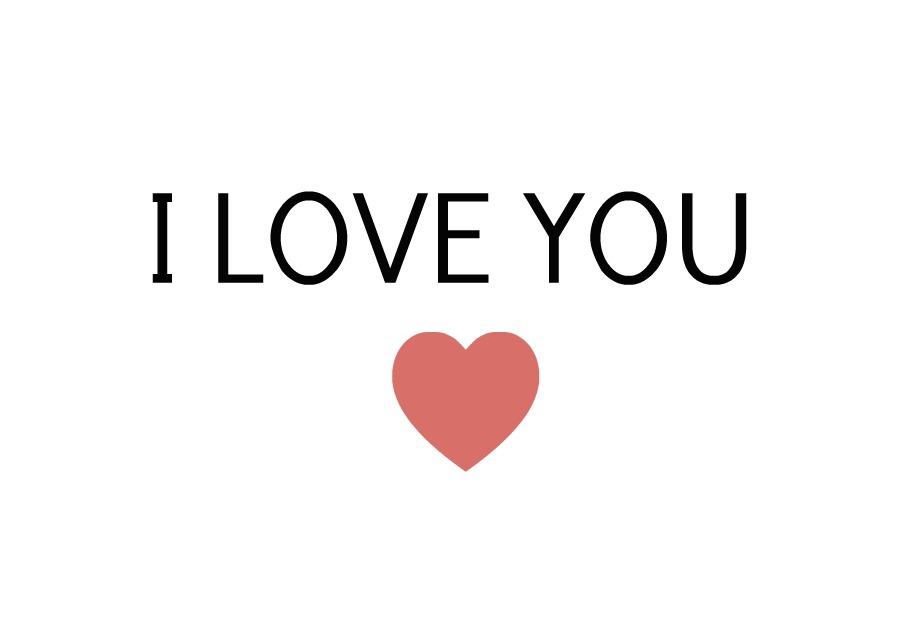 Hình chữ I Love You cực đẹp