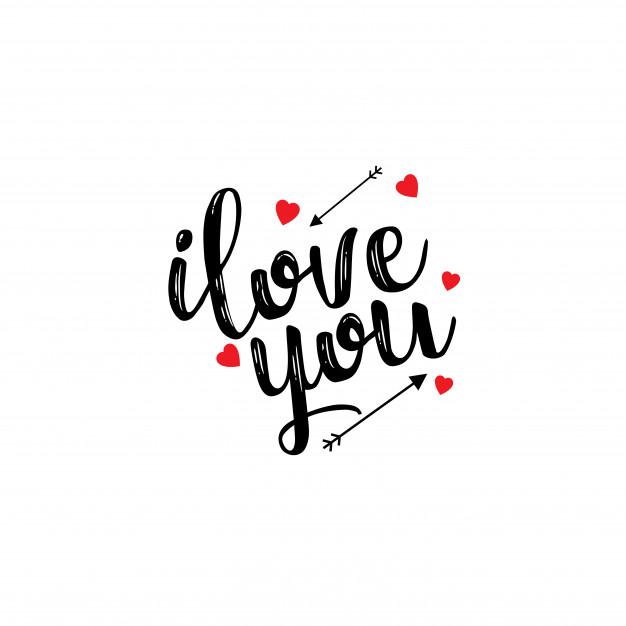 Hình chữ I Love You đơn giản đẹp