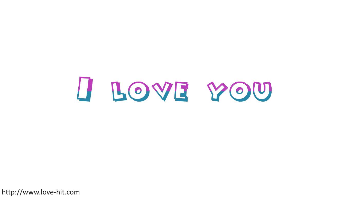 Hình chữ I Love You đơn giản