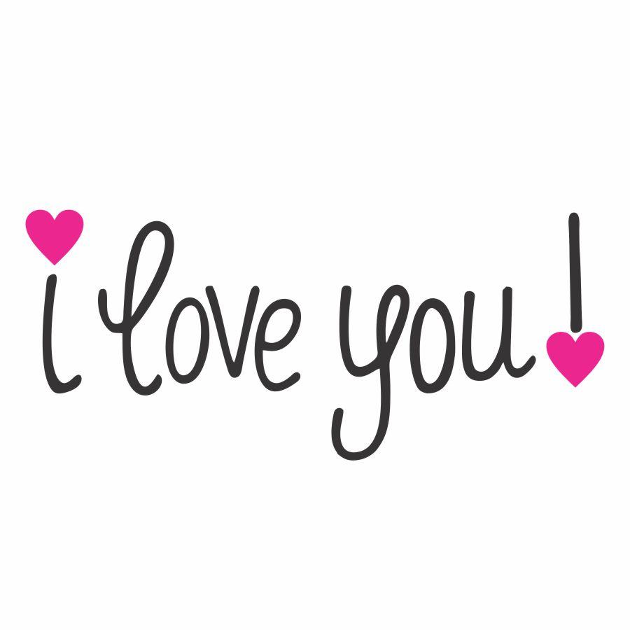 Hình chữ I Love You tình cảm đẹp