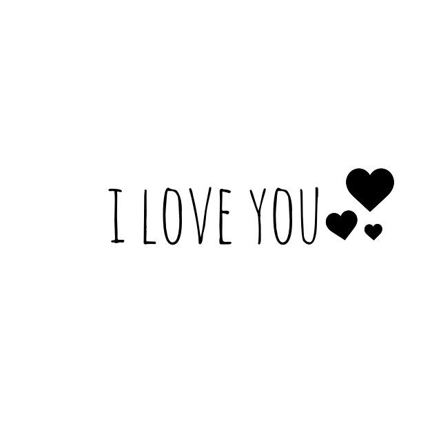 Hình chữ I Love You