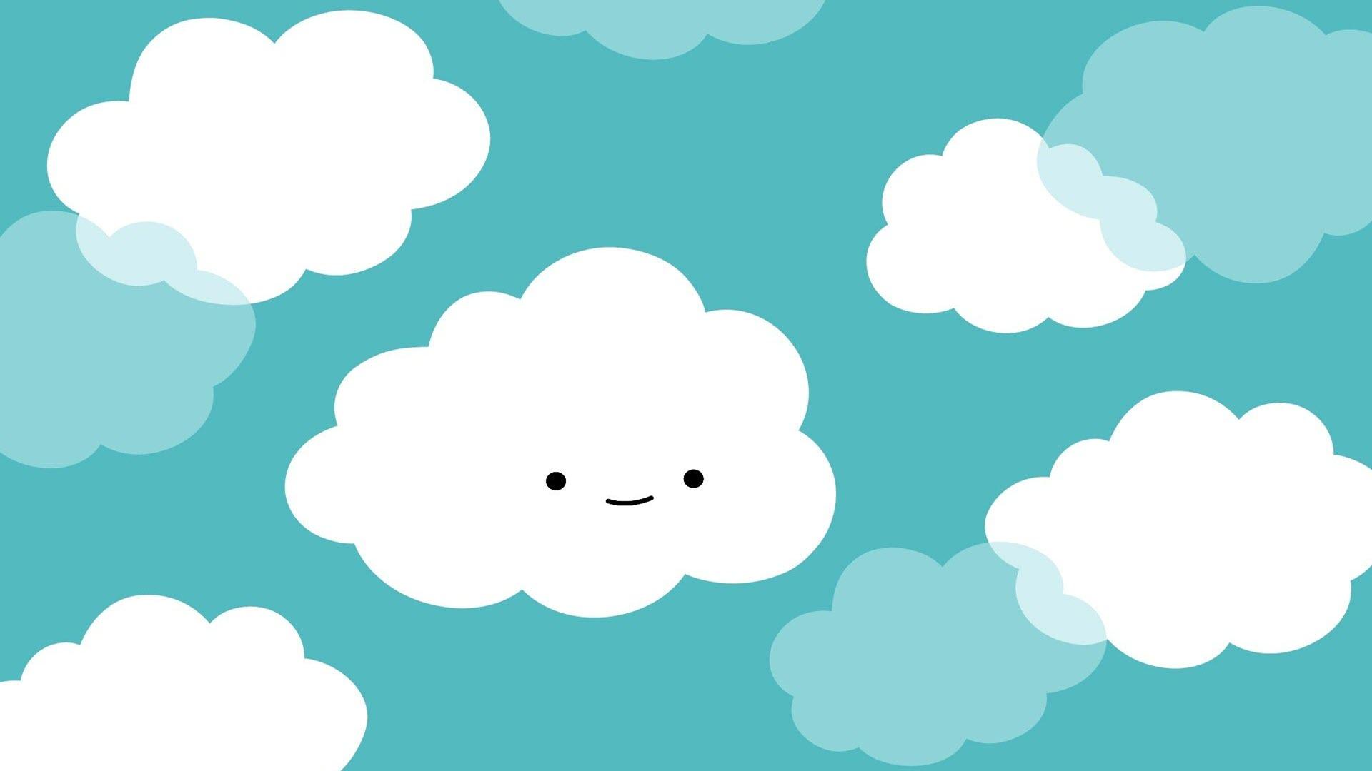 Hình nền mây dễ thương cho máy tính