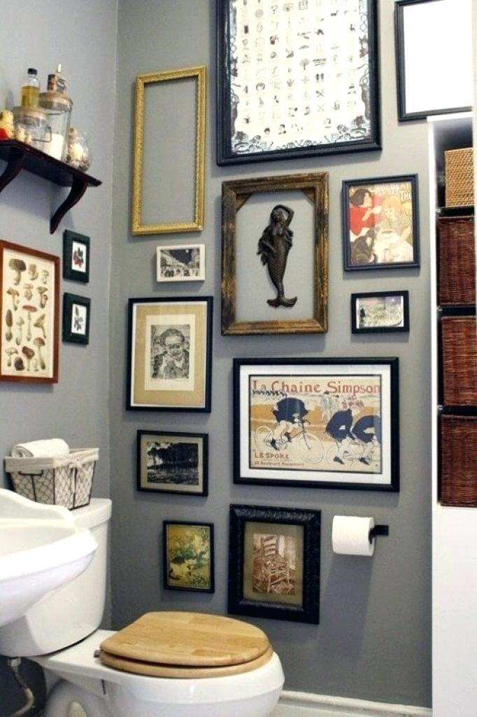 Mẫu trang trí khung ảnh cho nhà tắm