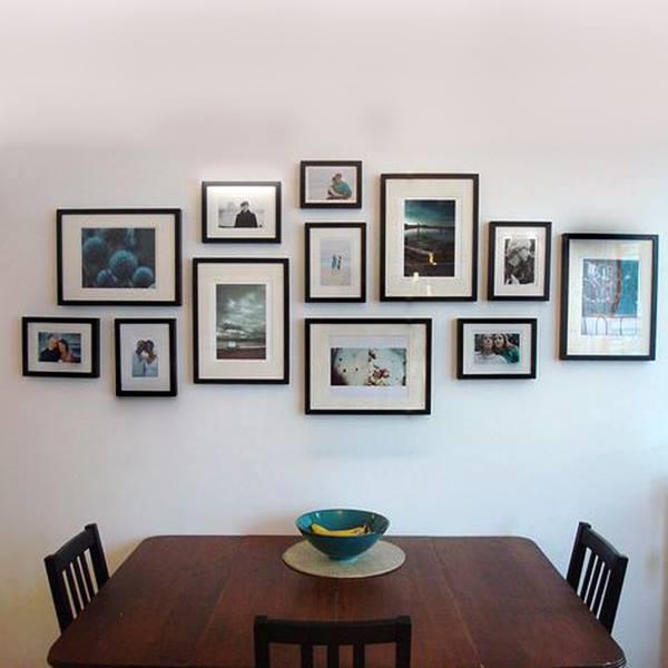 Mẫu trang trí khung ảnh cho phòng ăn