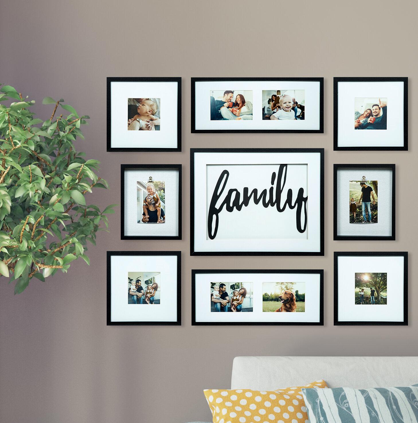 Mẫu trang trí khung ảnh gia đình