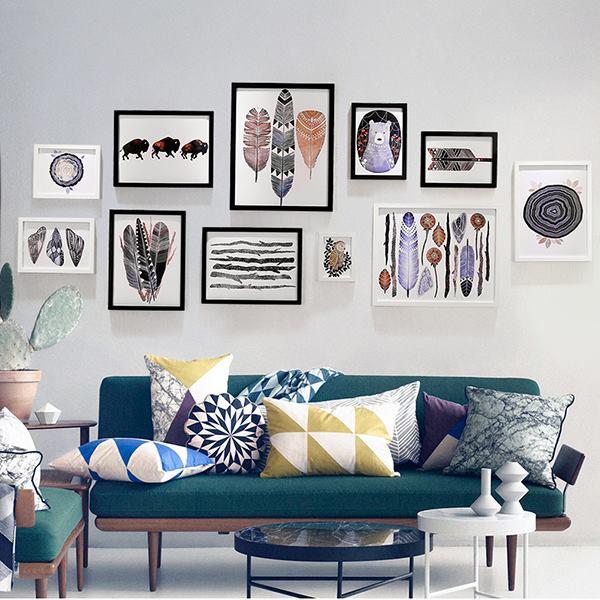 Mẫu trang trí khung ảnh phòng khách