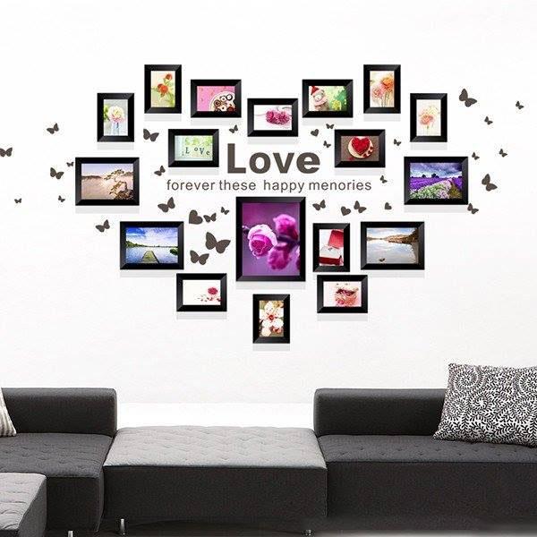Mẫu trang trí khung ảnh tình yêu