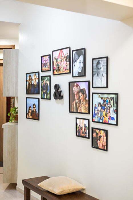 Mẫu trang trí khung ảnh treo trên tường