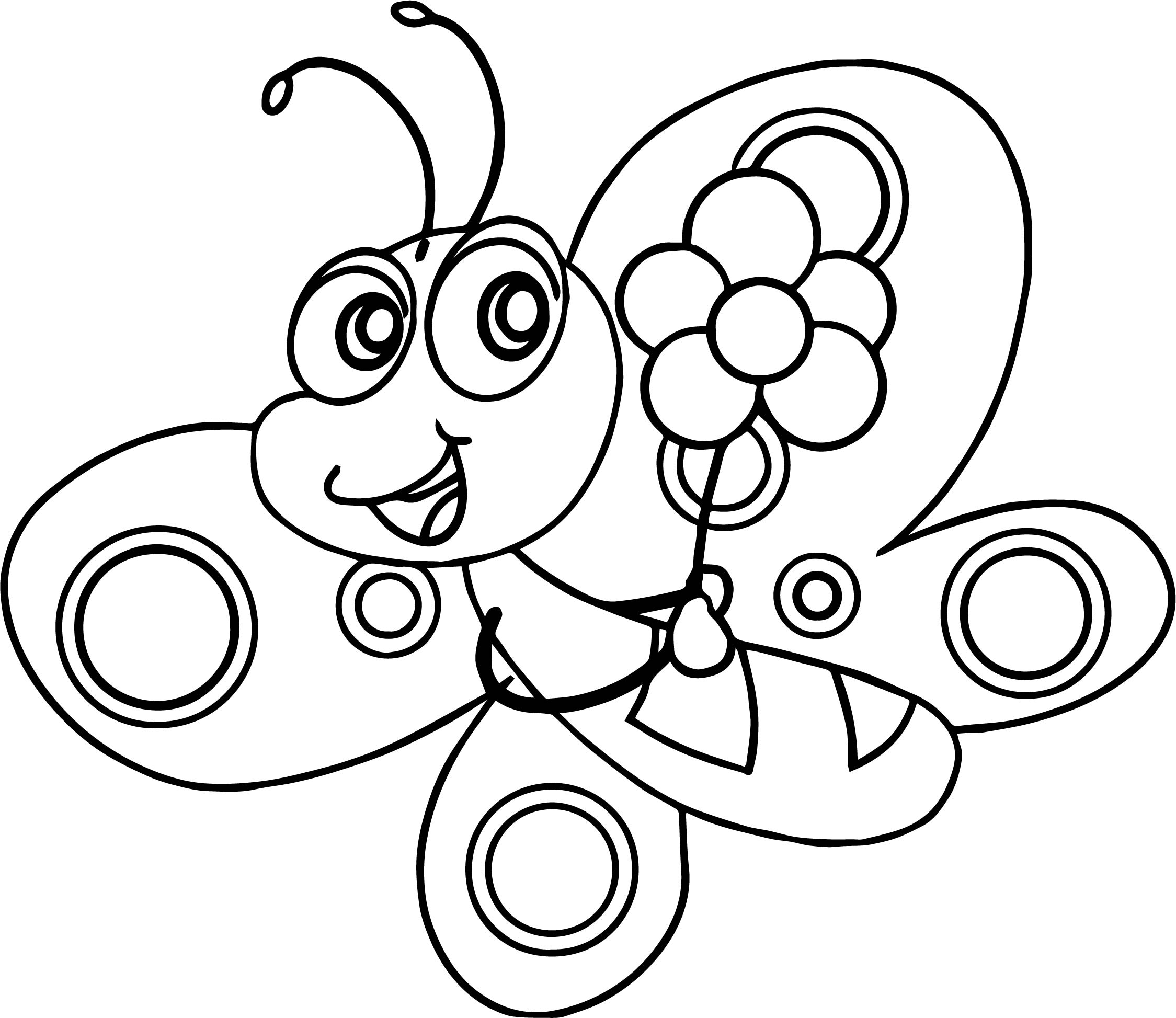 Tranh tô màu con bướm đáng yêu ngộ nghĩnh