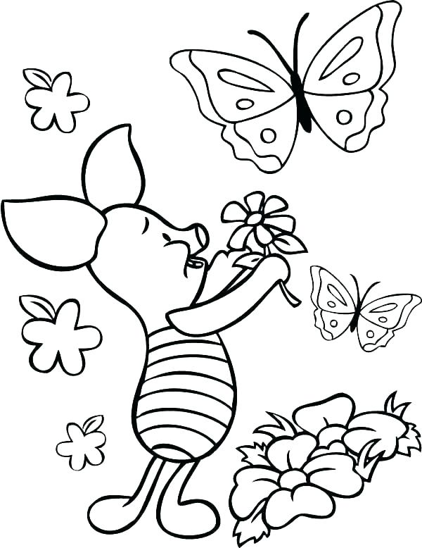 Tranh tô màu con bướm đáng yêu nhất