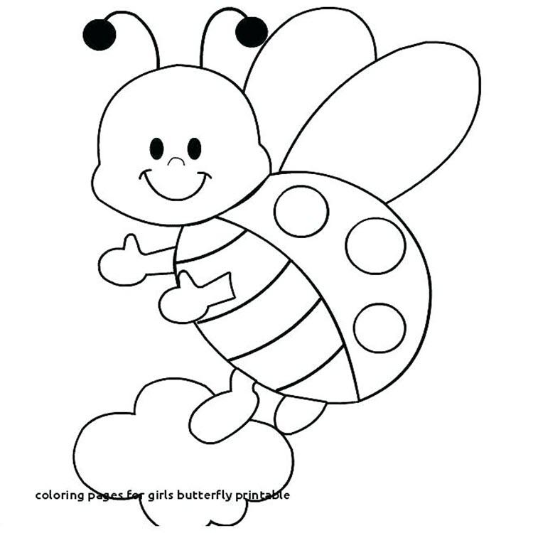 Tranh tô màu con bướm đáng yêu