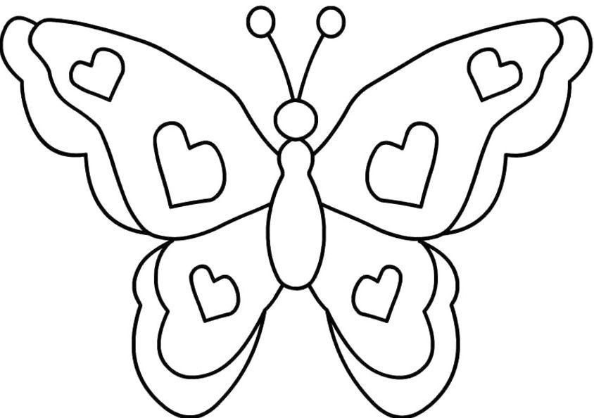 Tranh tô màu con bướm đơn giản cho bé đẹp nhất
