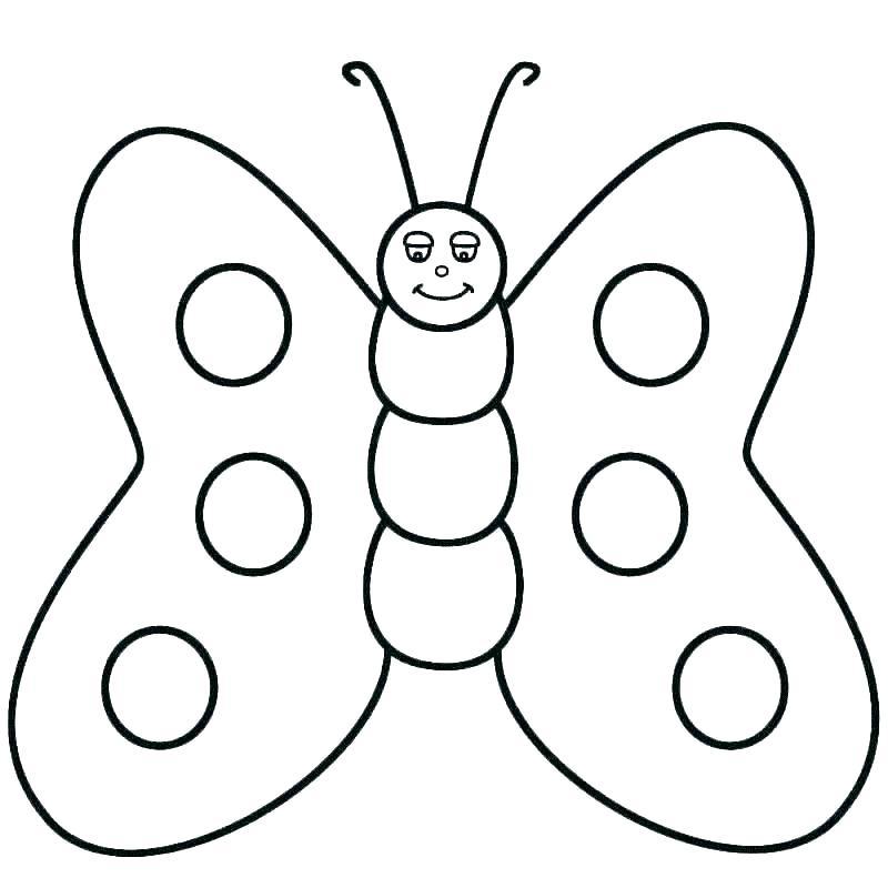 Tranh tô màu con bướm đơn giản cực đẹp