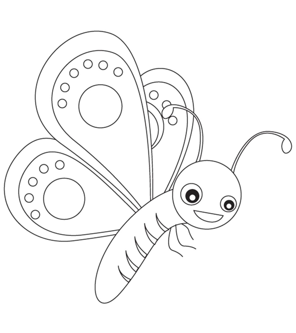 Tranh tô màu con bướm đơn giản đẹp nhất cho bé