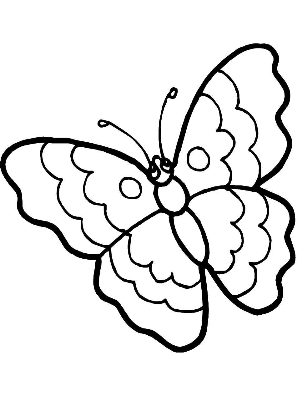 Tranh tô màu con bướm đơn giản đẹp nhất