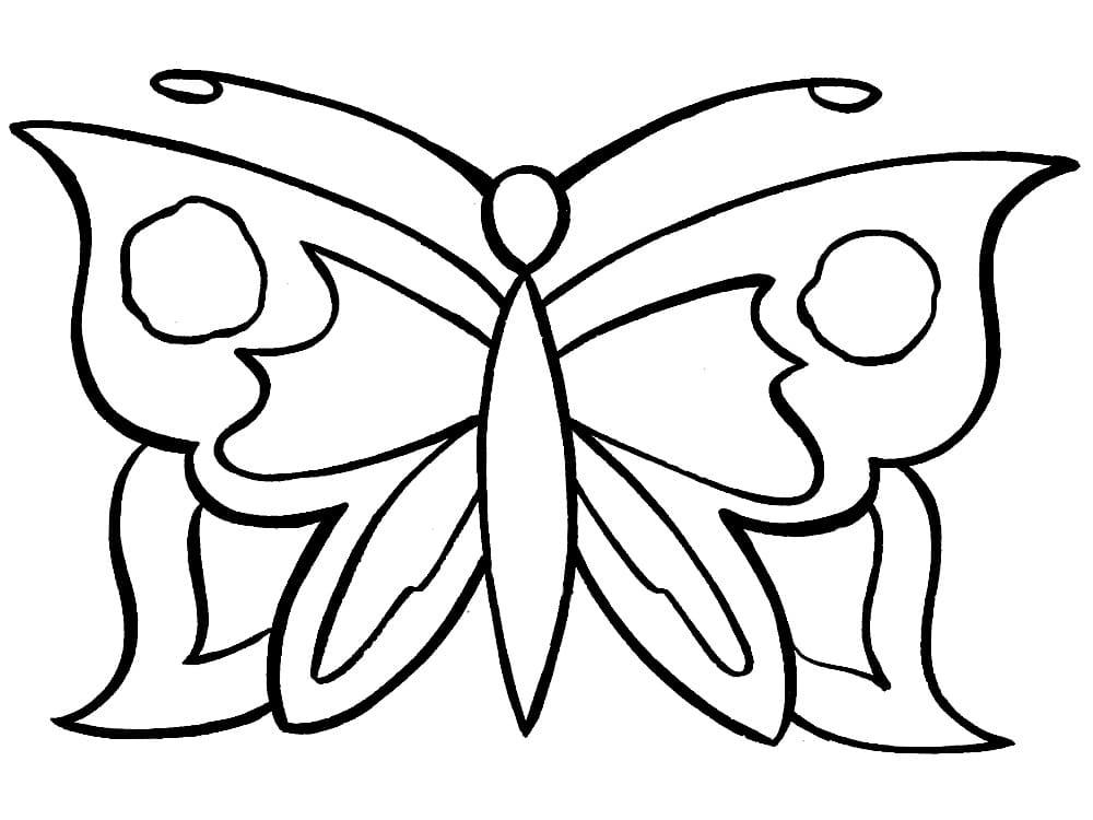 Tranh tô màu con bướm đơn giản nhất cho bé cực đẹp