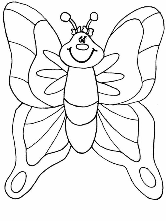 Tranh tô màu con bướm ngộ nghĩnh nhất