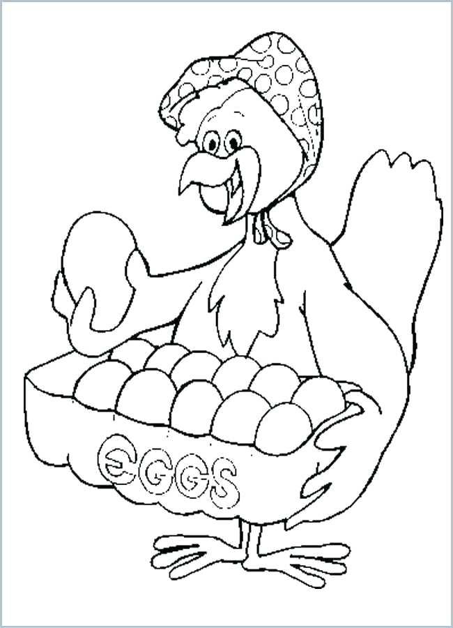 Tranh tô màu con gà ngộ nghĩnh cho bé