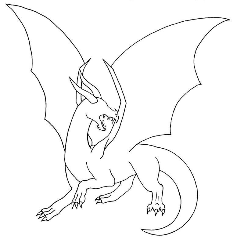 Tranh tô màu con rồng đơn giản cho bé