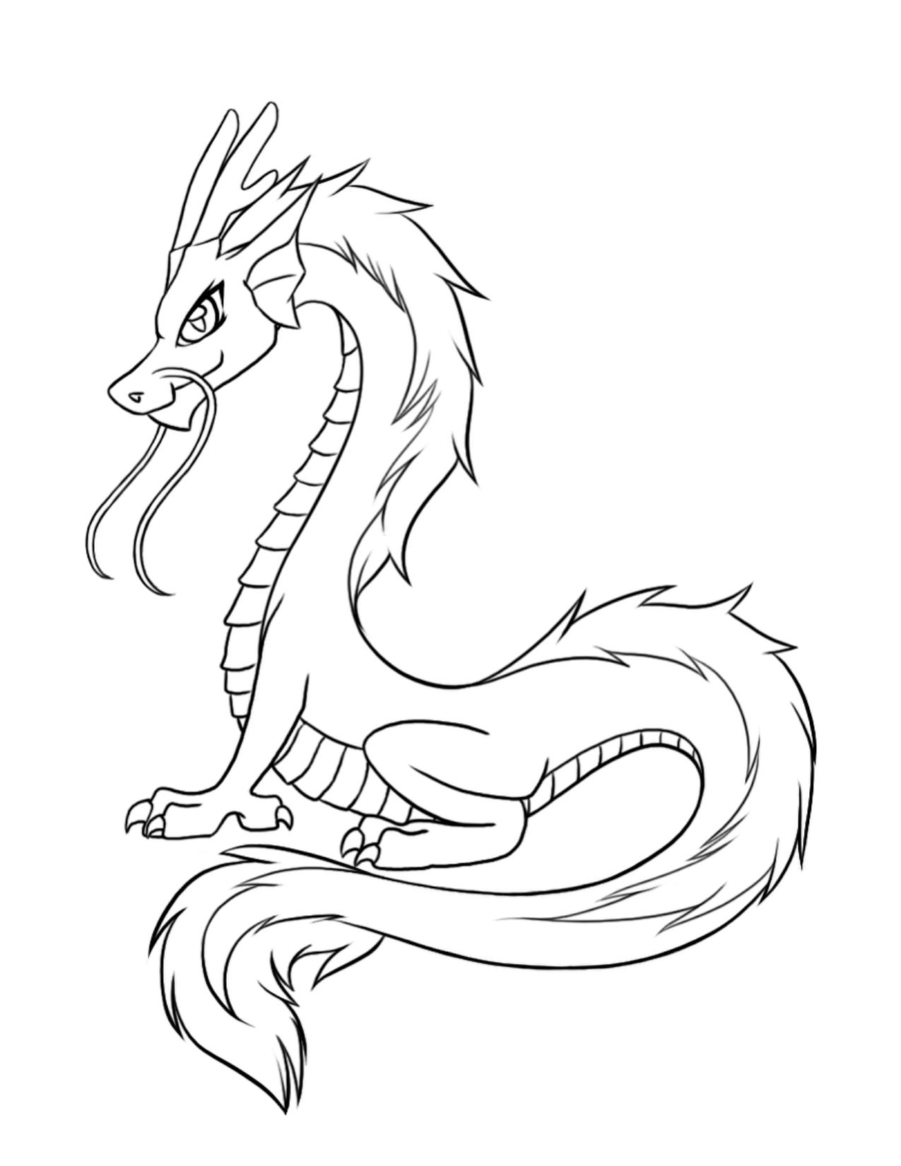 Tranh tô màu con rồng