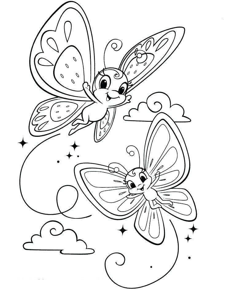 Tranh tô màu đàn bướm đẹp nhất