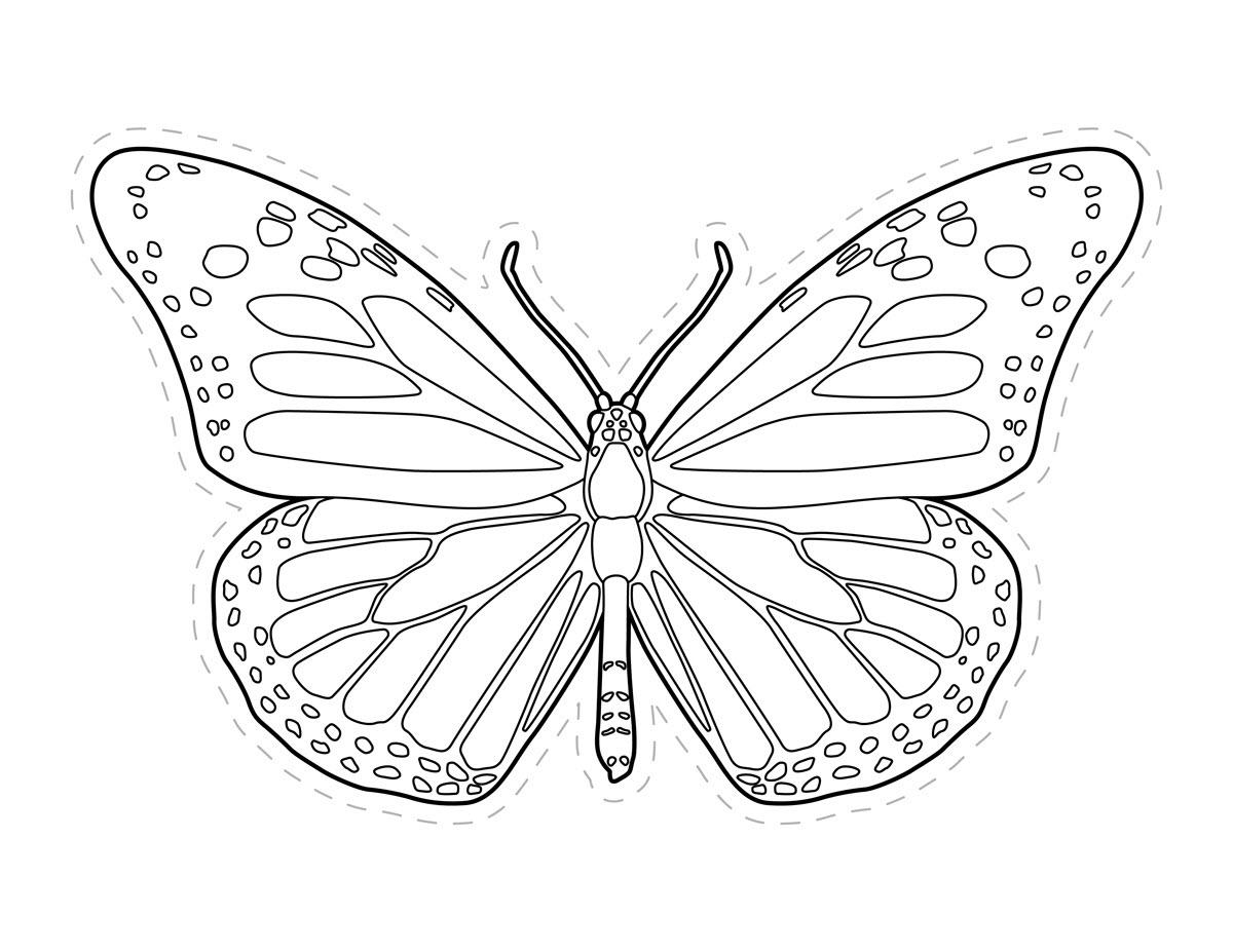 Tranh vẽ tô màu con bướm đơn giản đẹp nhất