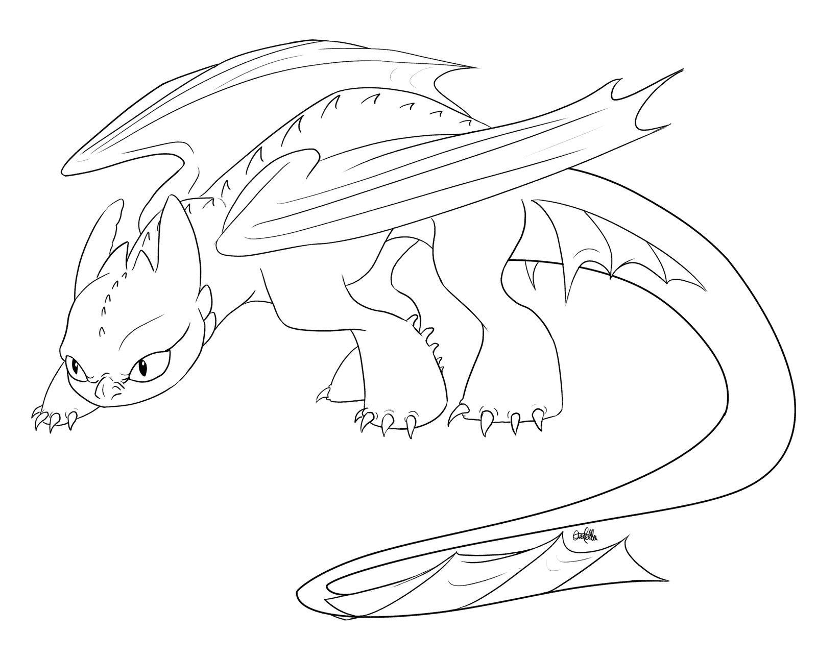 Tranh vẽ tô màu con rồng cho bé