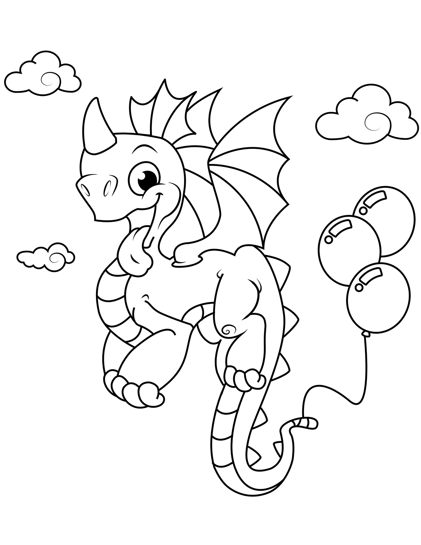 Tranh vẽ tô màu con rồng đẹp nhất