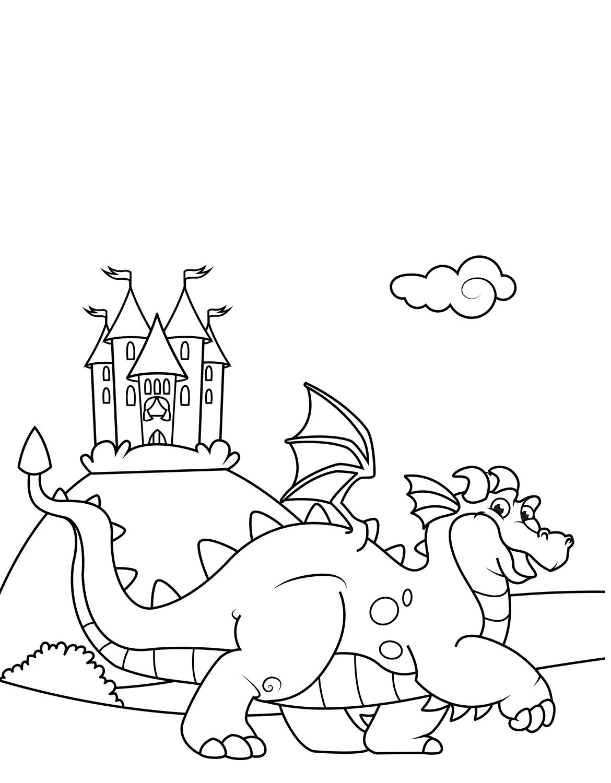 Tranh vẽ tô màu con rồng đẹp