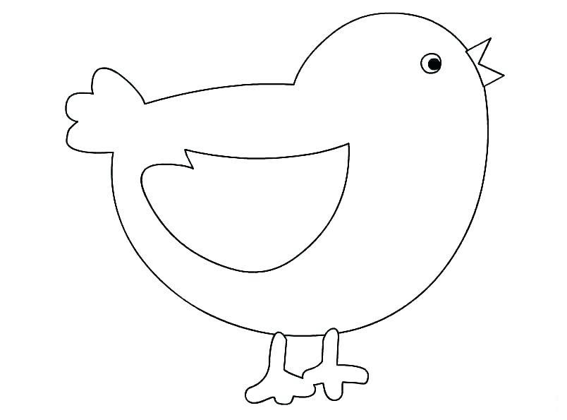 Tranh vẽ tô màu gà con