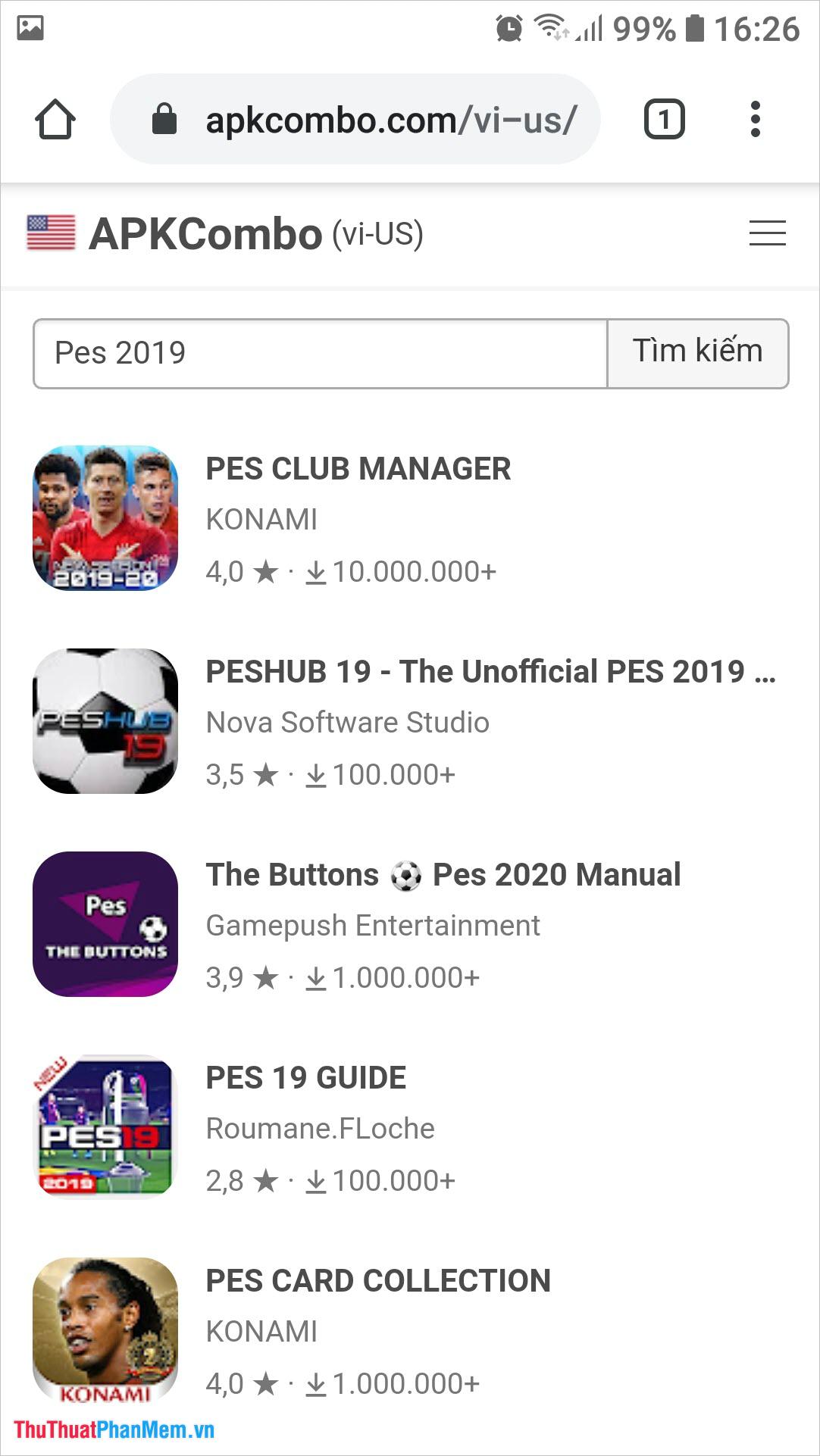Bạn có thể lựa chọn ứng dụng hoặc game mà bạn đang muốn tìm bằng cách bấm vào nó