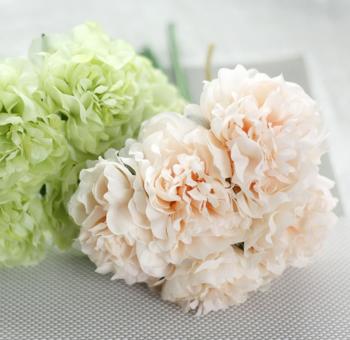 Bó hoa mẫu đơn trắng khoe sắc
