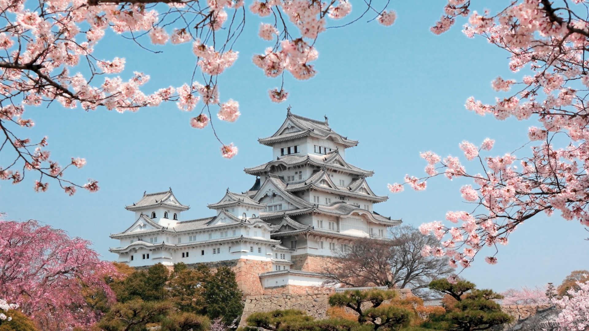 Hình ảnh Nhật Bản xinh đẹp lầu các trắng tinh