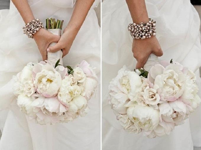 Hoa mẫu đơnt rắng dànhc ho ngày cưới