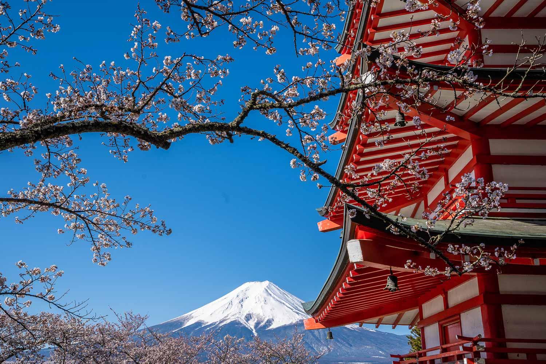Ngắm nhìn núi Phú Sĩ Nhật Bản từ nơi xa