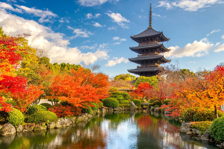Ngôi tháp cổ ở Nhật Bản rất đẹp