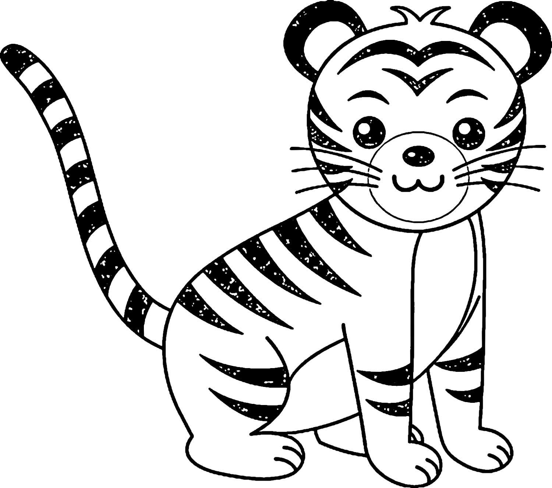 Tranh tô màu chú hổ đáng yêu