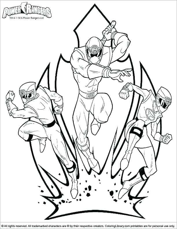 Tranh tô màu đội hình ba siêu nhân