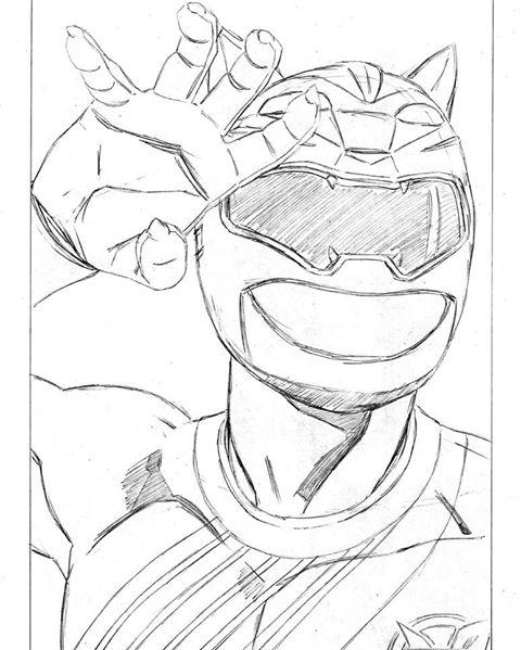 Tranh tô màu siêu nhân gao Gao bạc