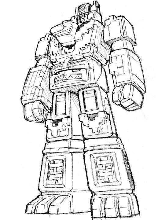 Tranh tô màu siêu nhân robot biến hình