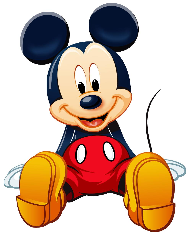 Chú chuột Mickey đang ngồi bệt