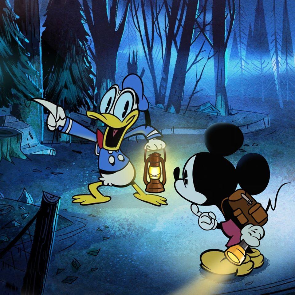 Chú chuột Mickey và vịt Donal thám hiểm nhà ma