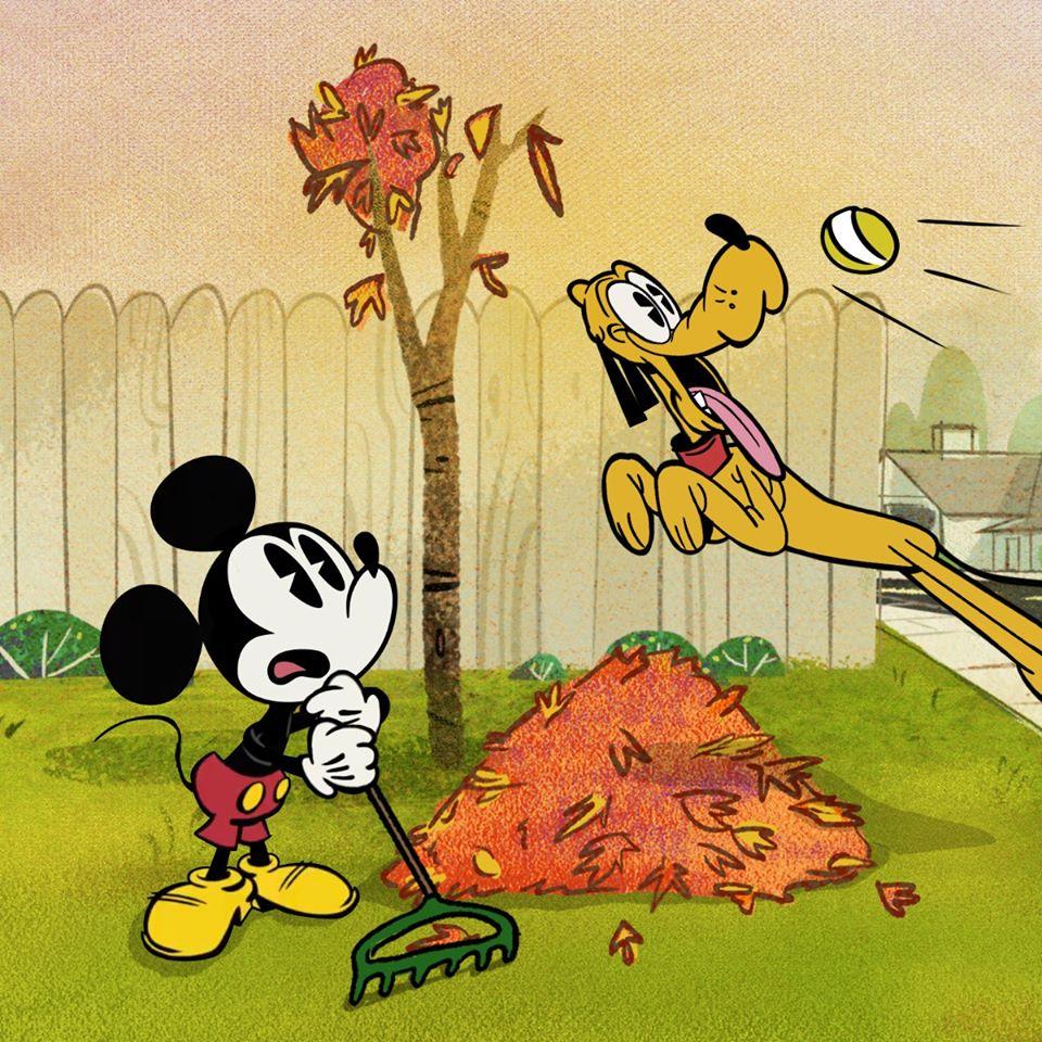 Chuột Mickey và chú chó tinh nghịch