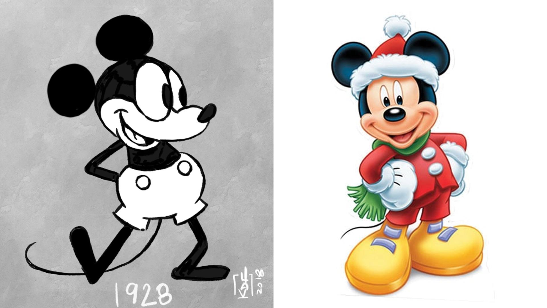 Chuột Mickey xưa và nay