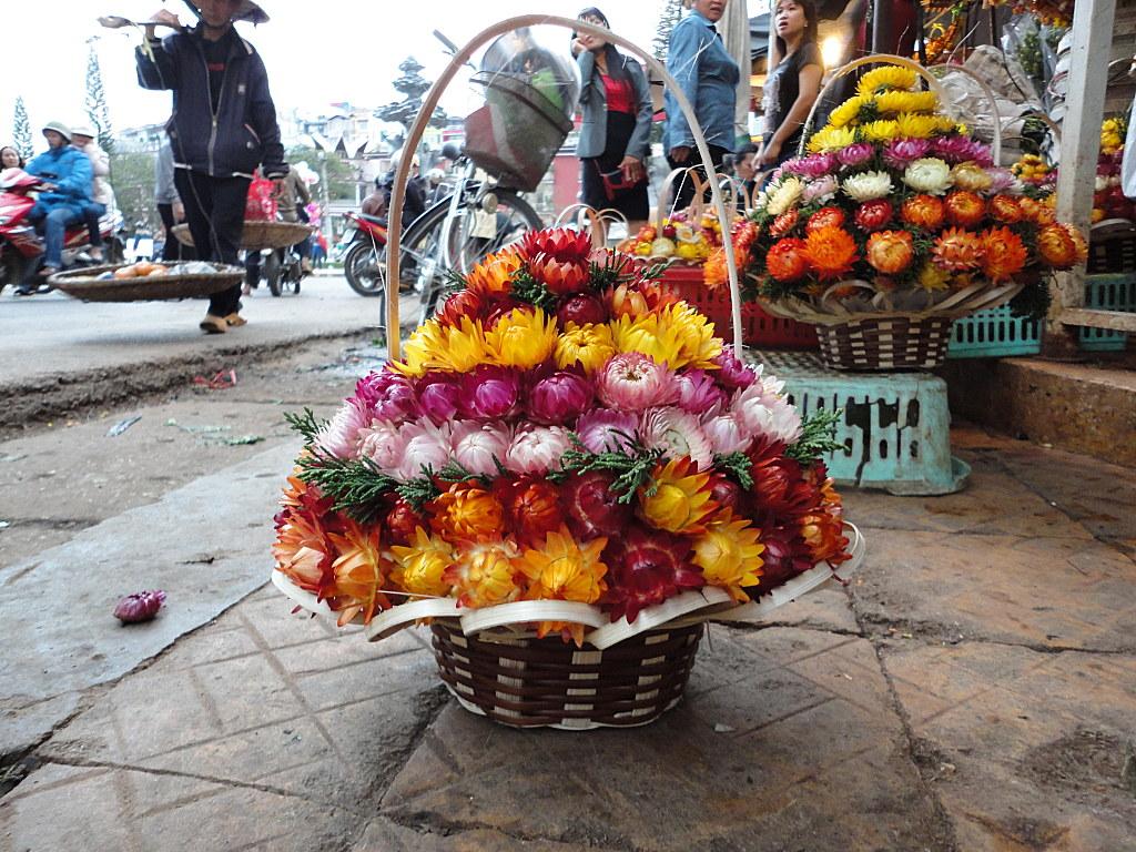 Giỏ hoa bất tử cực kỳ xinh đẹp