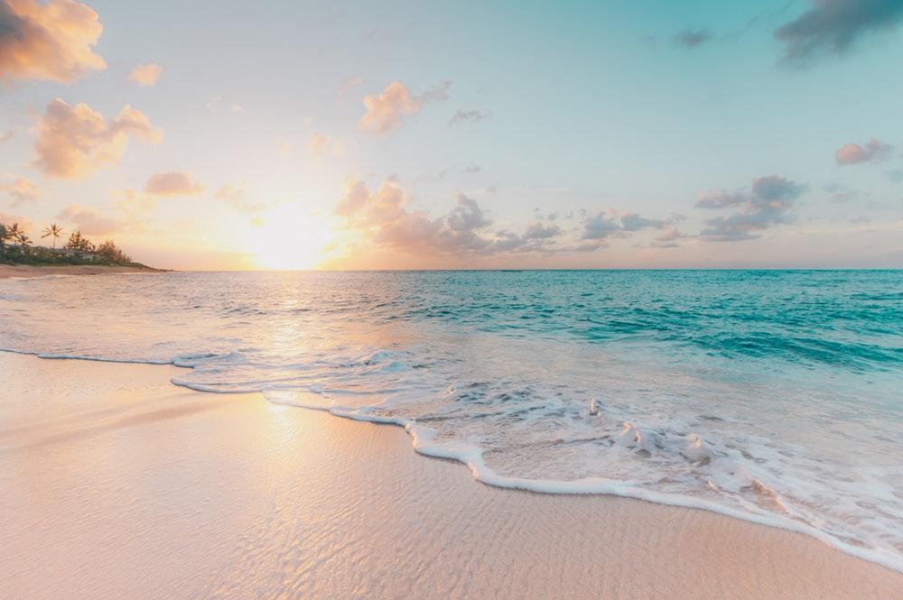 Hình ảnh bãi biển xanh vào mùa hè
